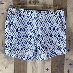 Kenar blue and white diamond shorts size 4